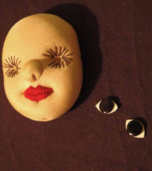 Как сделать лицо из ткани