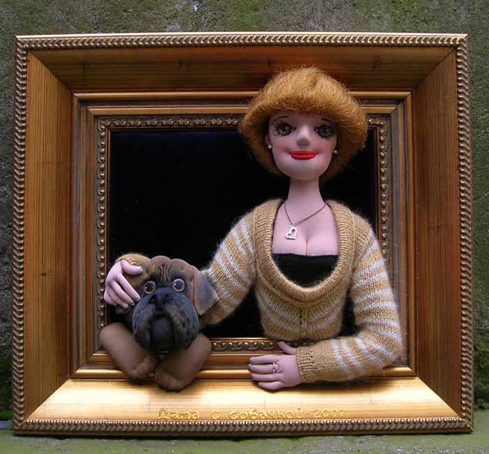 Авторская кукла :: Дама с собачкой - 2007